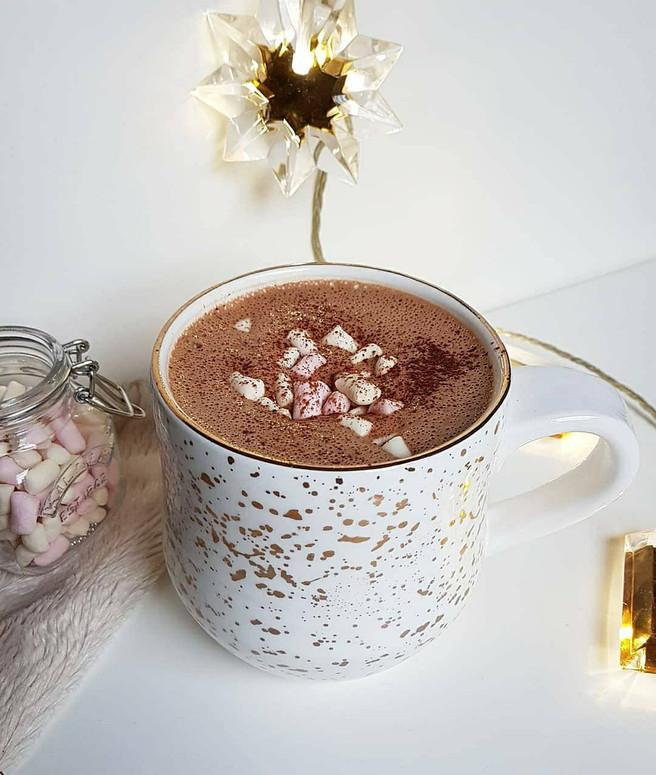 Healthy Hazelnut Hot Chocolate