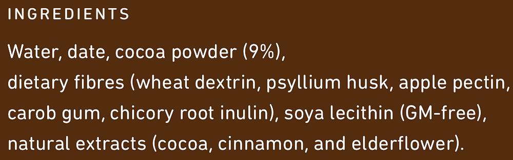 Frill Intense Chocolate Ingredients
