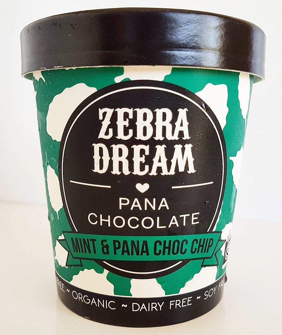 Zebra Dream Mint & Pana Choc Chip Ice Cream