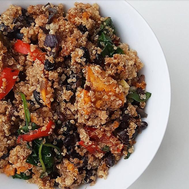 Oven Baked Veg & Quinoa Bowl (oil free)