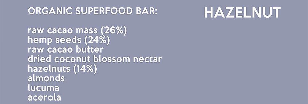 Nucao Chocolate Hazelnut Ingredients