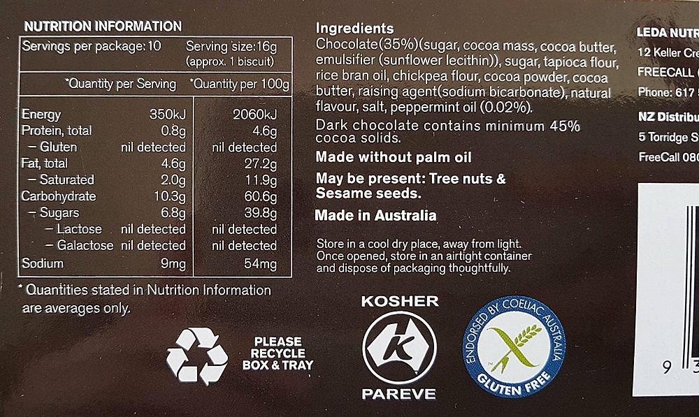 Leda Minton Nutritional Values