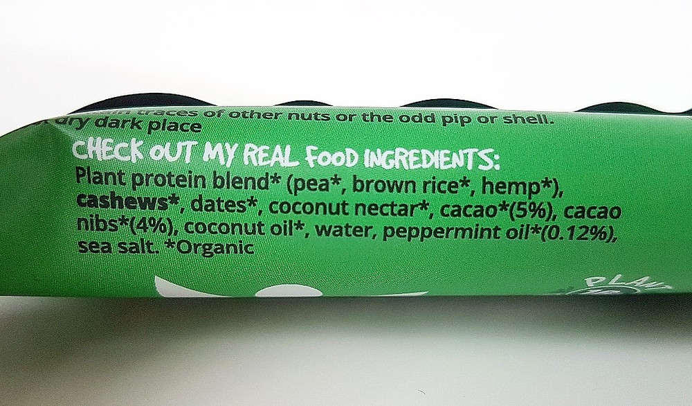 BodyMe Cacao Mint Protein Bar Ingredients