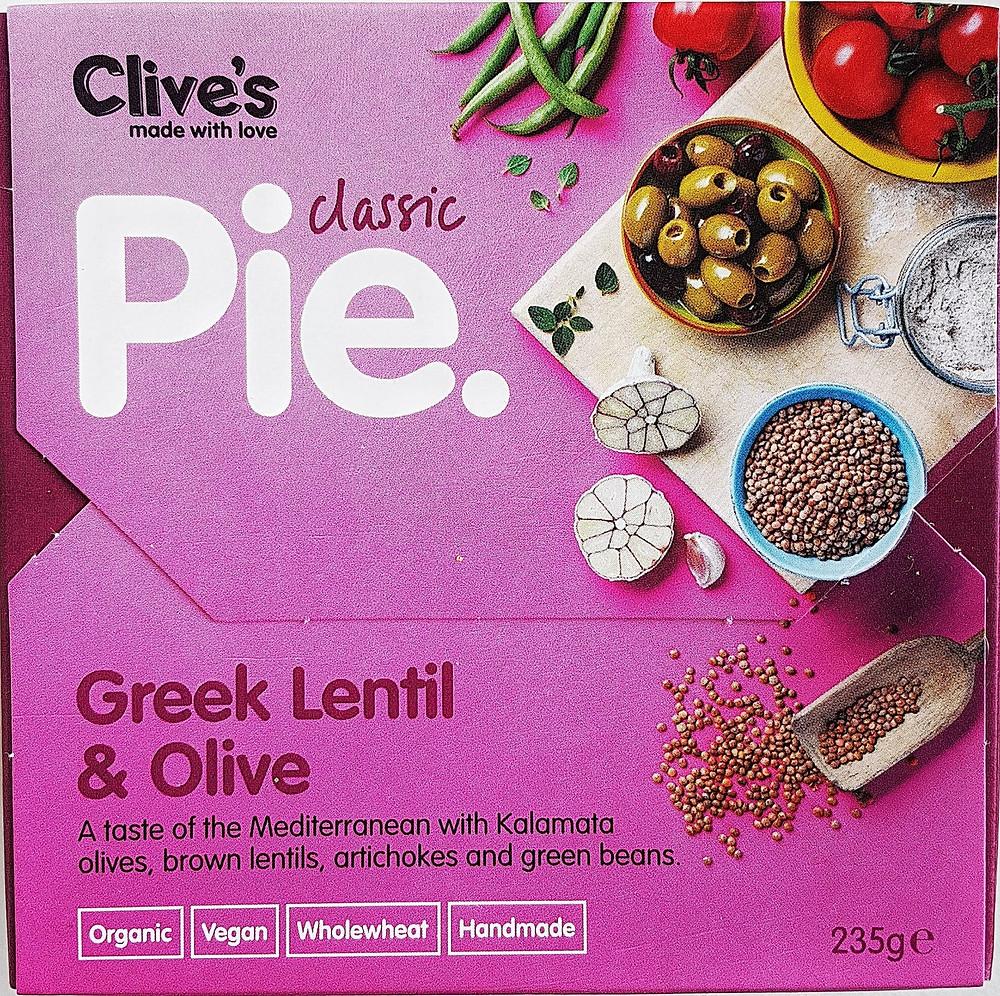 Clive's Pies Greek Lentil & Olive