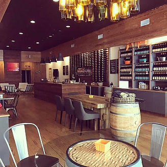 lounge style tasting room, downtown Thomasville