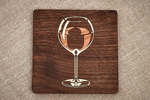 Burgundy Wine Coaster