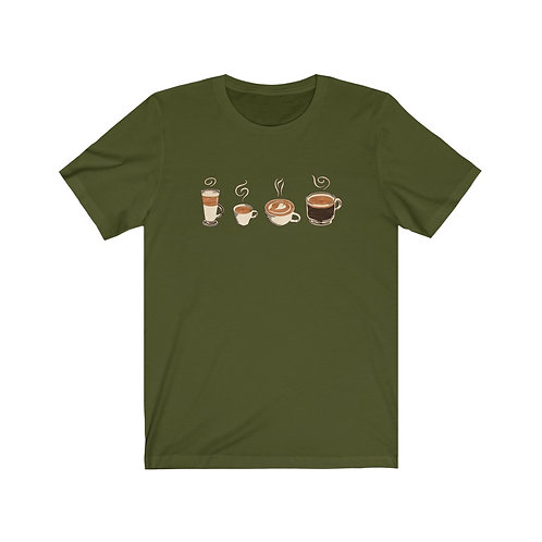 Four Coffees Unisex Jersey Tee