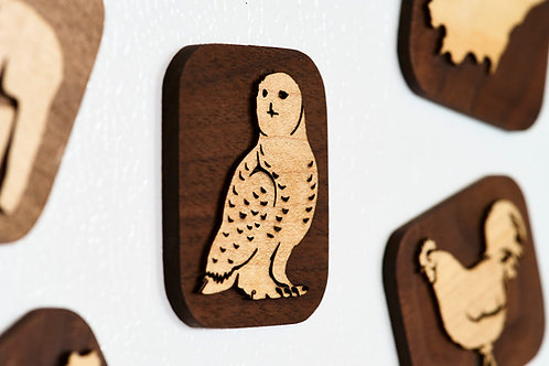 Snowy Owl Fridge Magnet