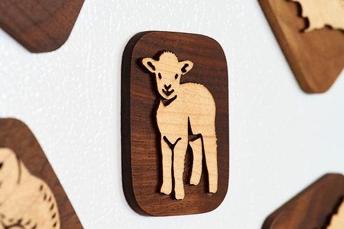 Lamb Fridge Magnet