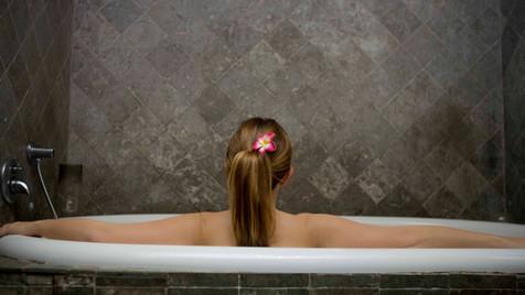 in bad gaan met eendjes