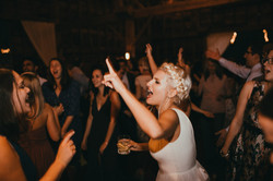Bride rocking out!