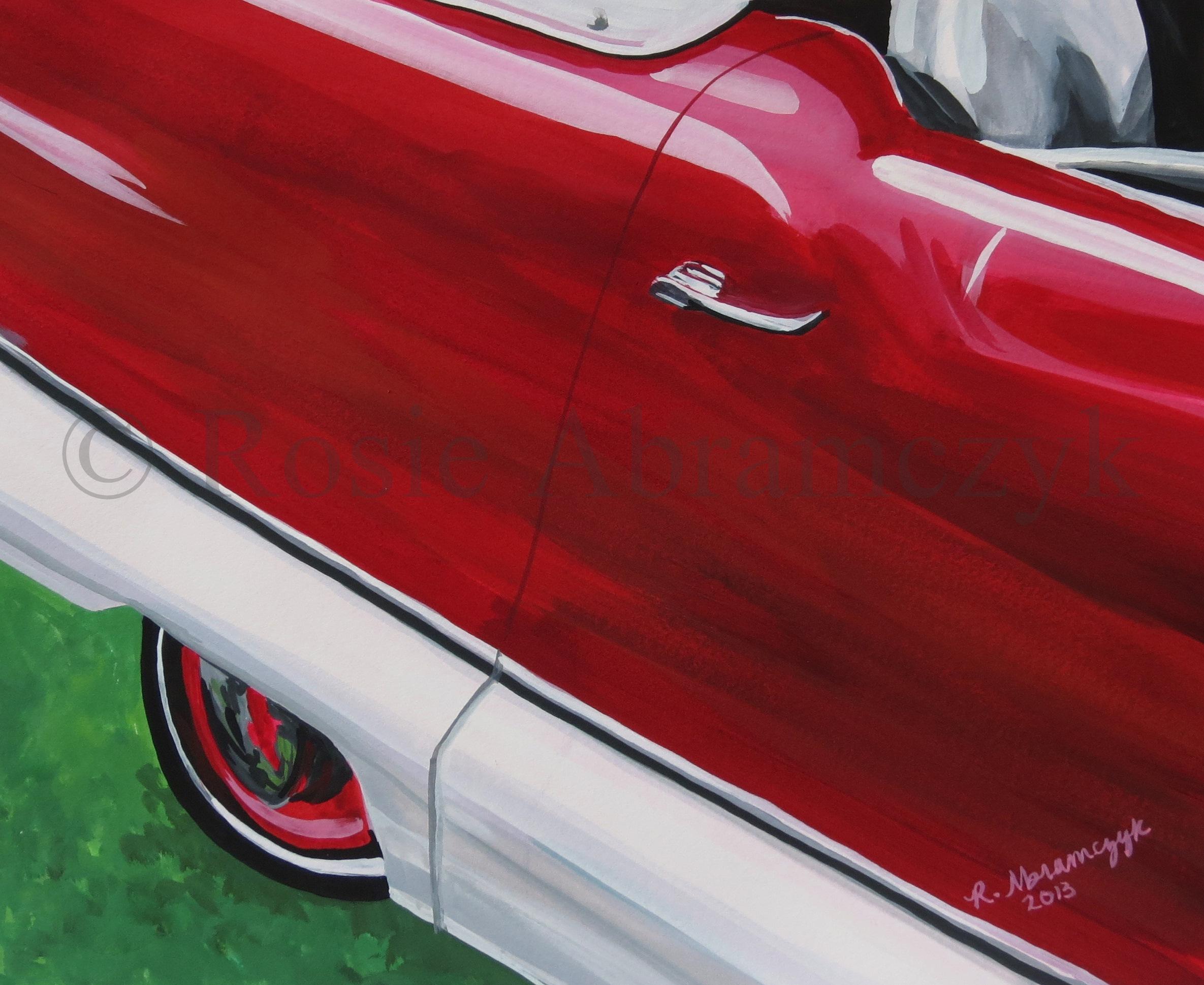 1959 Nash Metropolitan, by Rosie Abramczyk, Gouache Paint, 2013