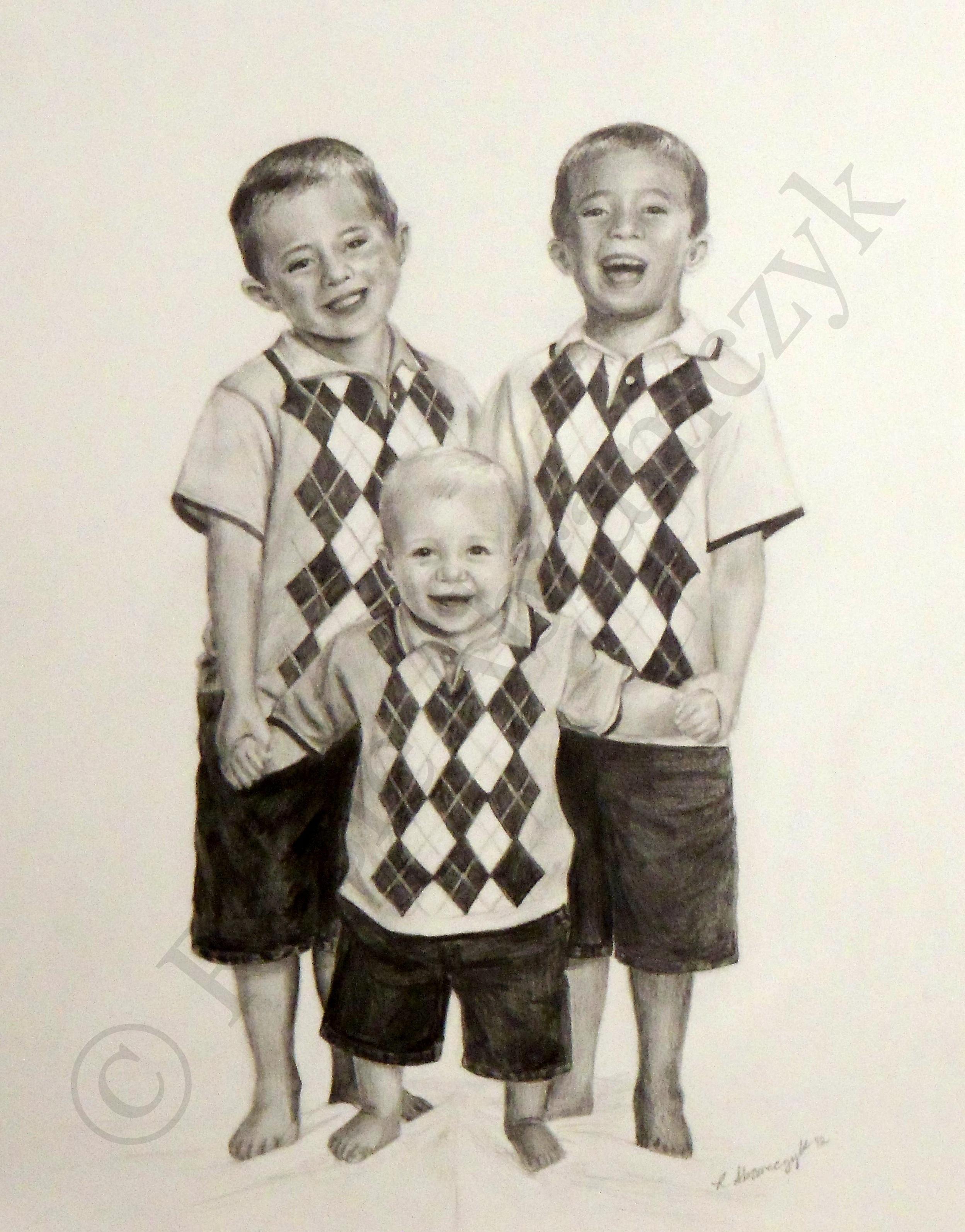 Zeitler Boys, Rosie Abramczyk 2012, Pencil