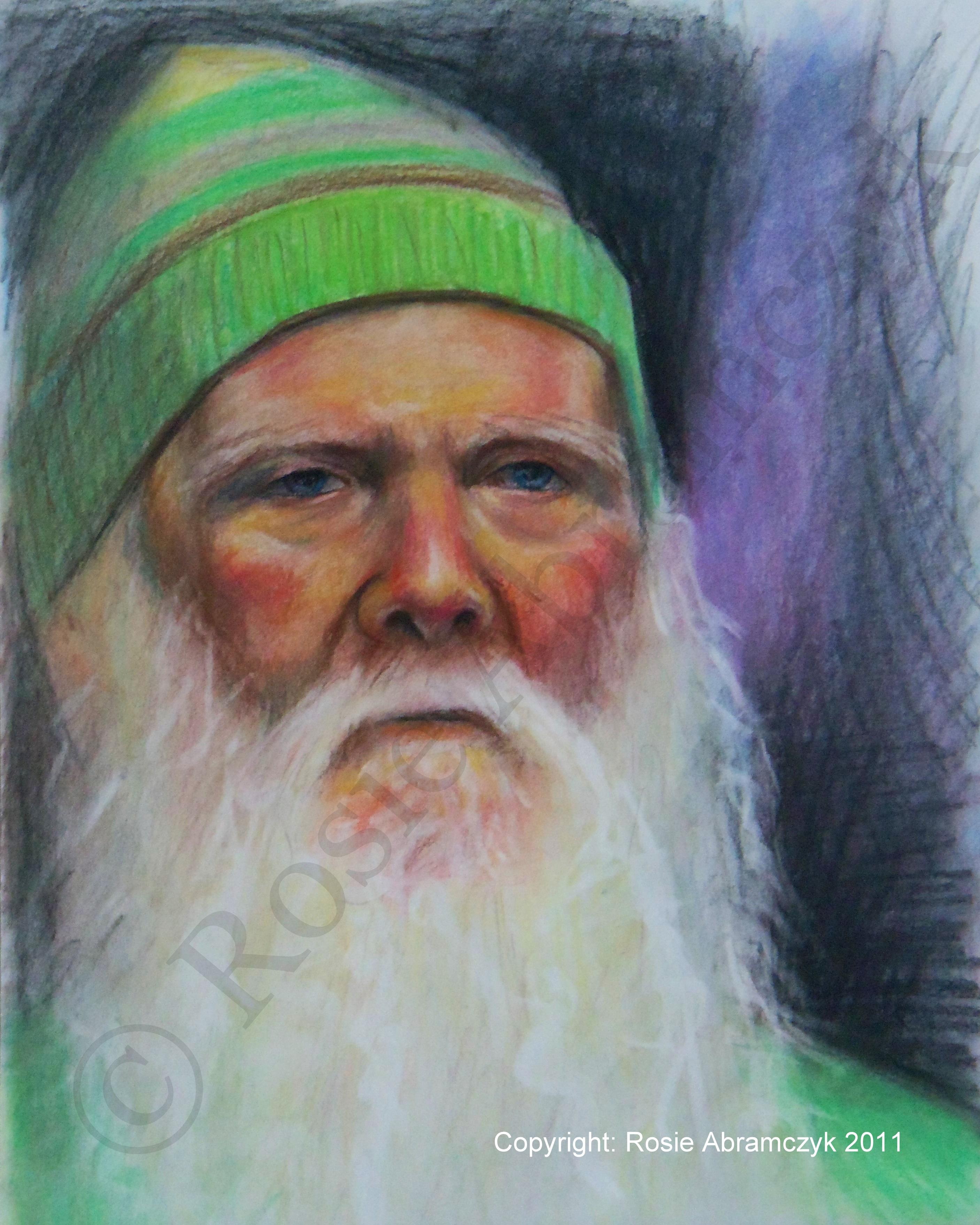 Larry, by Rosie Bromeier-Abramczyk, Chalk Pastels, 2008