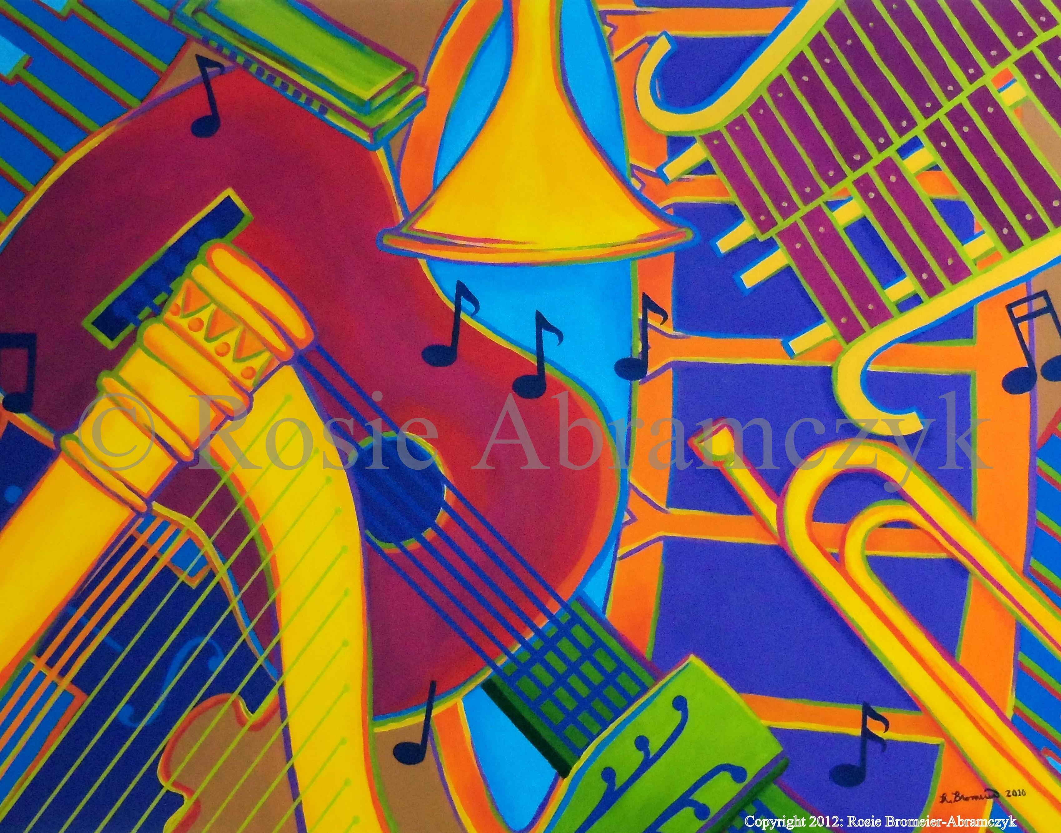 Jazz it Up, Rosie Bromeier-Abramczyk, Oil, 2010