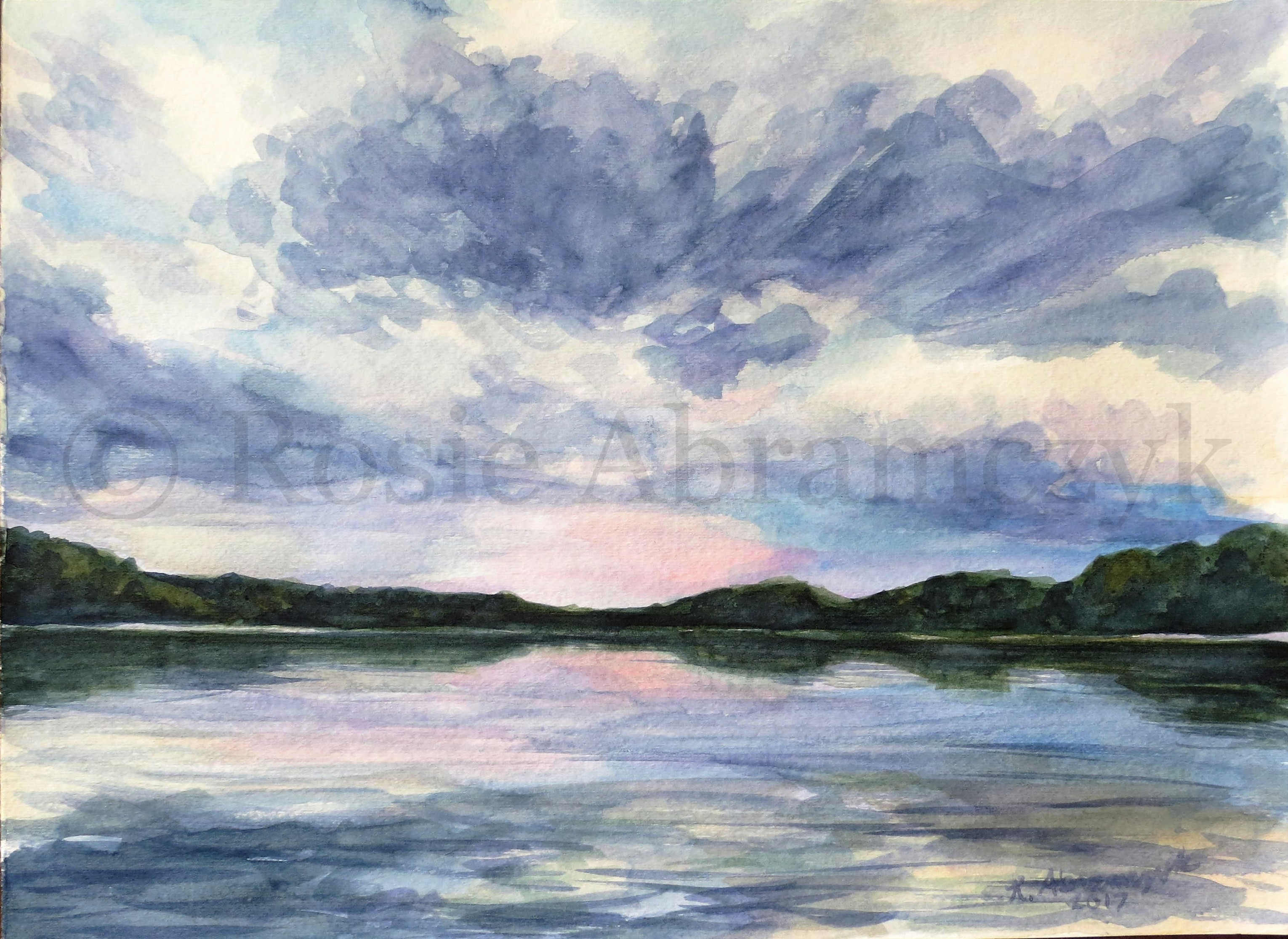 Lake of the Ozarks, Camdenton, MO, by Rosie Abramczyk, Watercolor, 2017