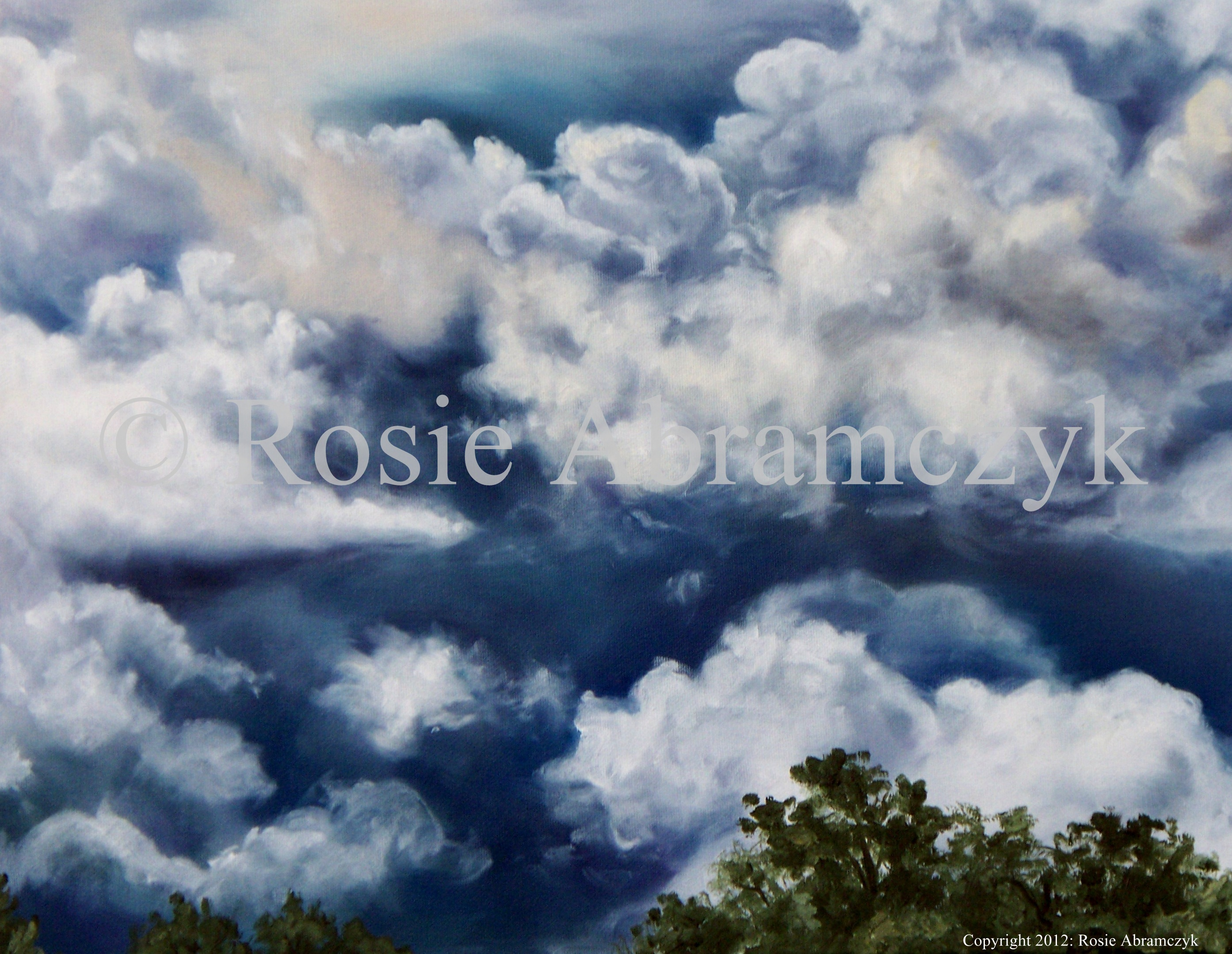 Clouds, by Rosie Abramczyk, Oil Paint, 2010