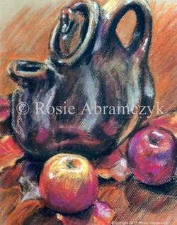 Fall Teapot, Rosie Bromeier-Abramczyk, Pastel, 2007