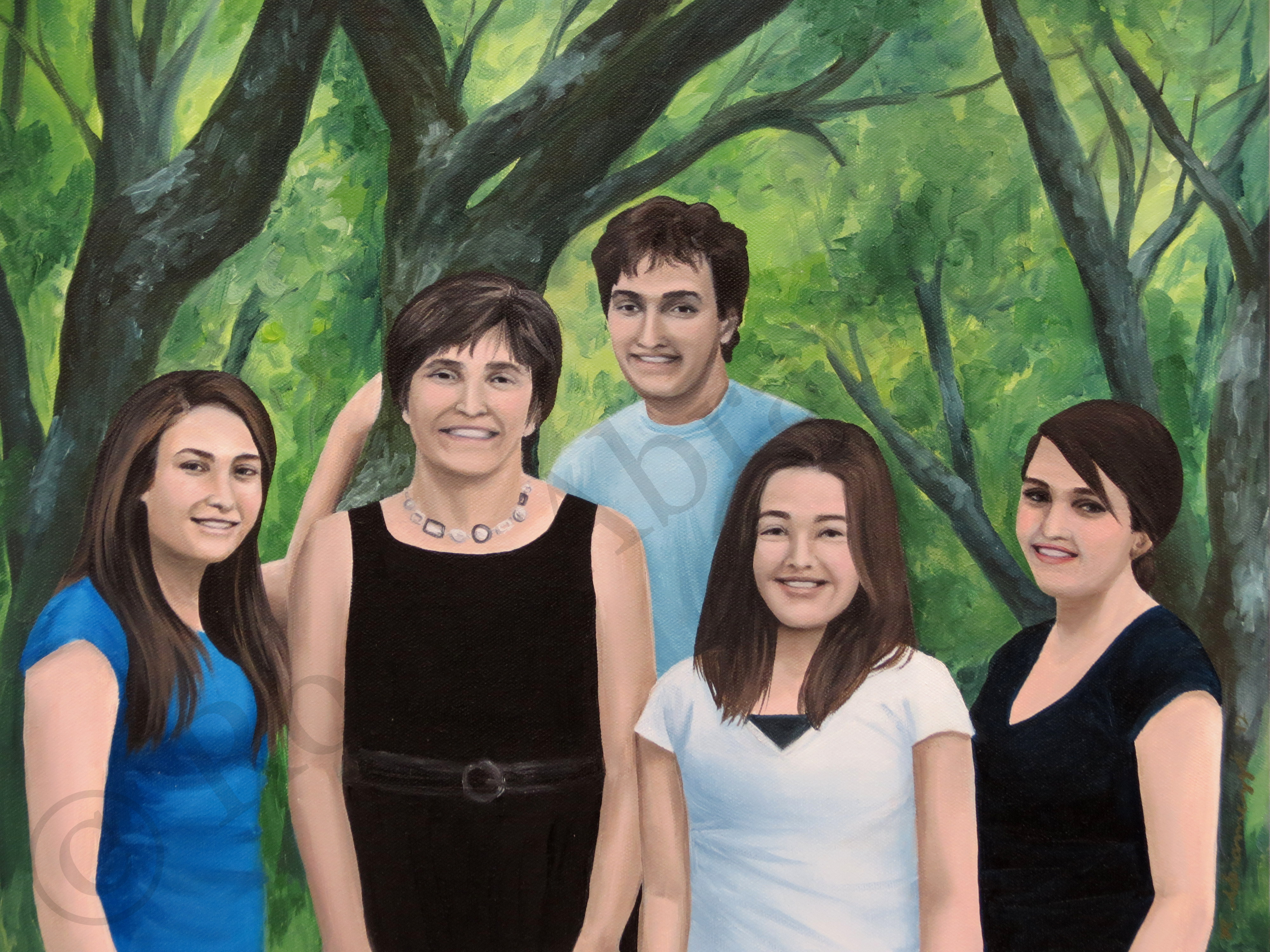 Sholy Family Portrait, by Rosie Abramczyk, Oil Paint, 2012