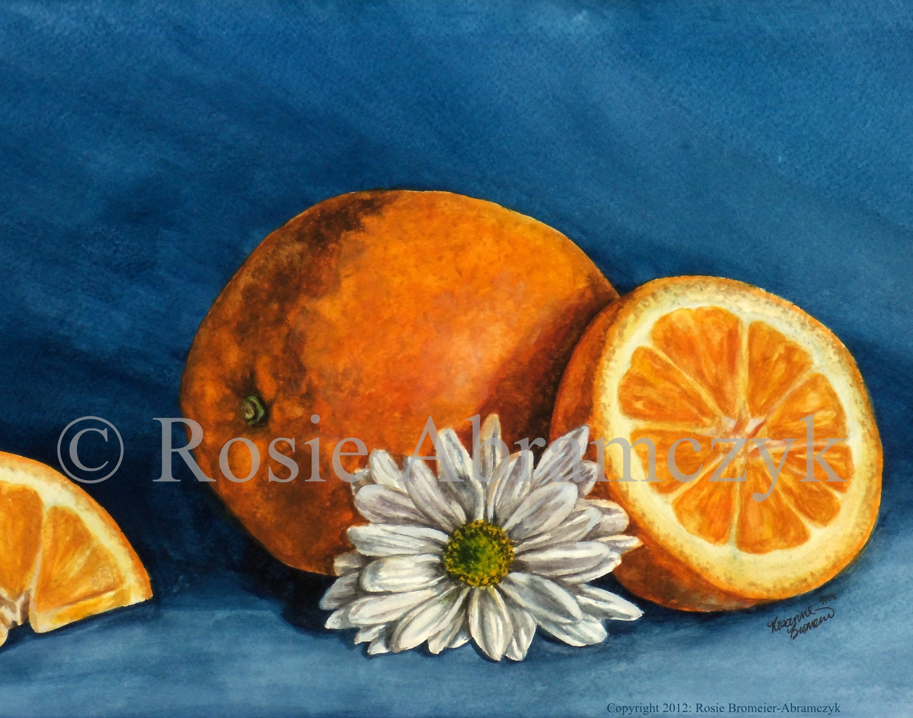 Citrus Daisy, Rosie Bromeier-Abramczyk, Watercolor, 2005