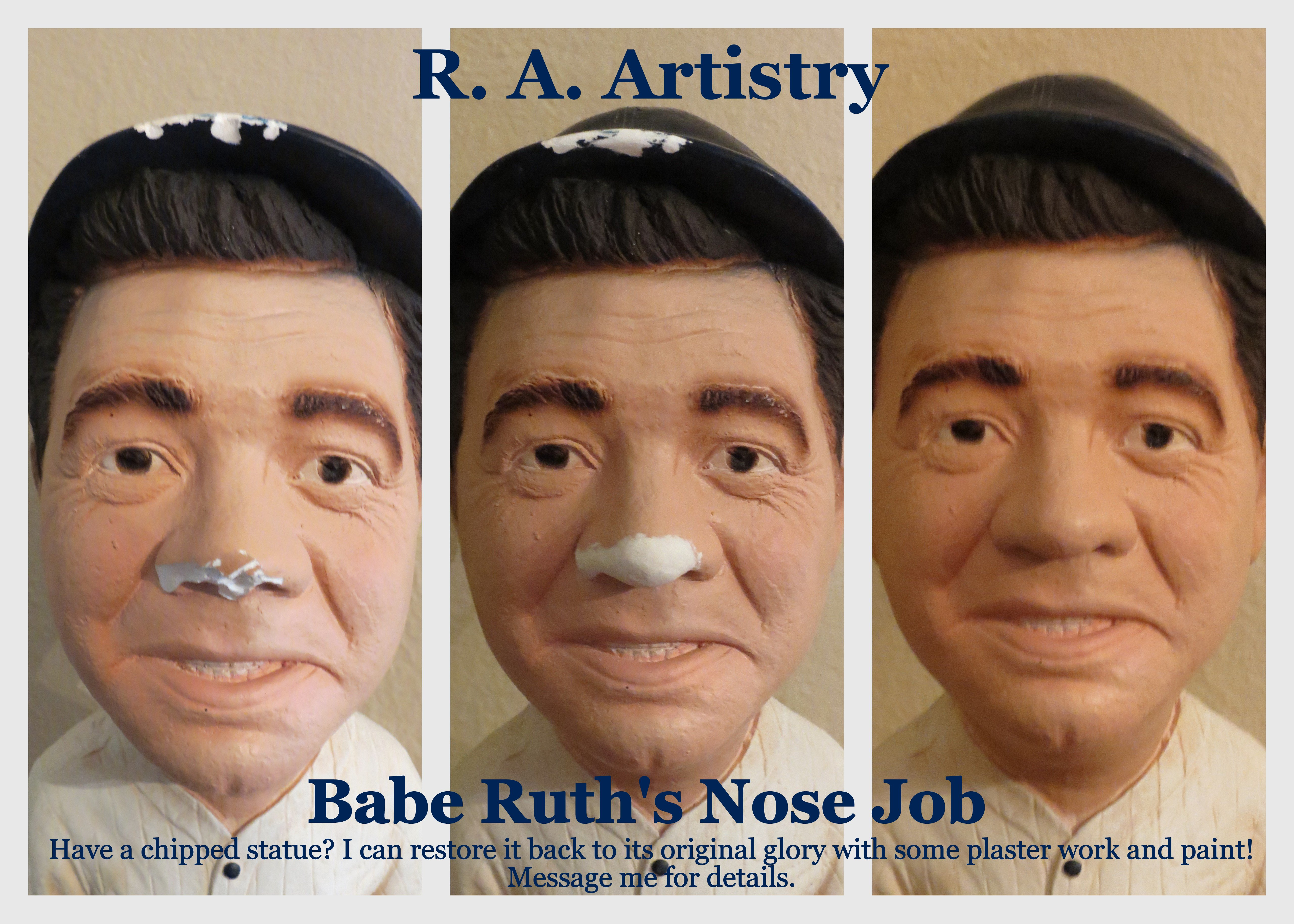 Babe Ruth Statue Repair, Abramczyk