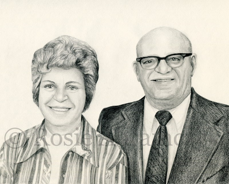 Shirley and Carl Auer, by Rosie Abramczyk, Pencil, 2012