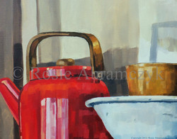 Red Teapot, Rosie Bromeier-Abramczyk, Oil, 2005