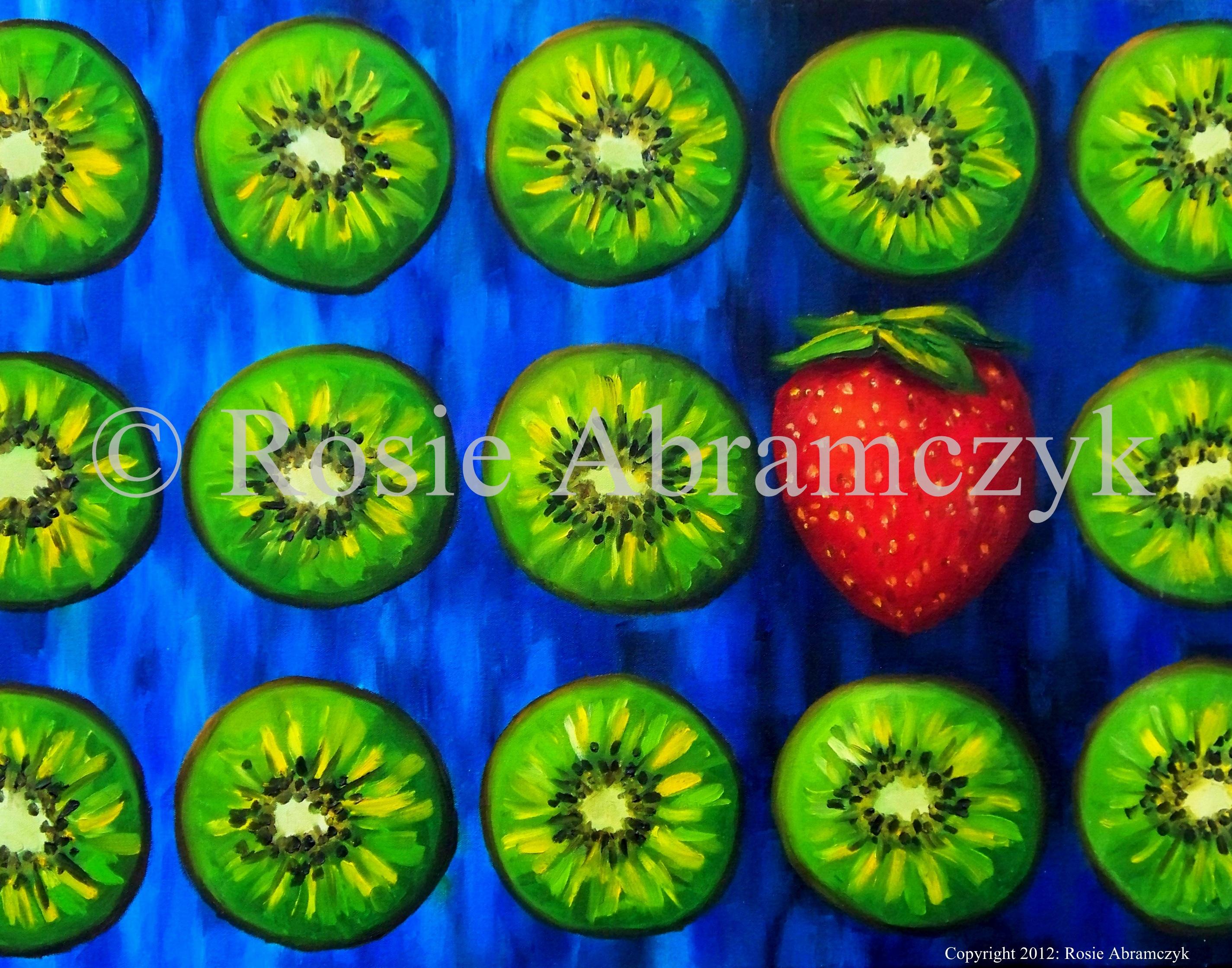Kiwis are Cool, Rosie Bromeier-Abramczyk, Oil, 2006
