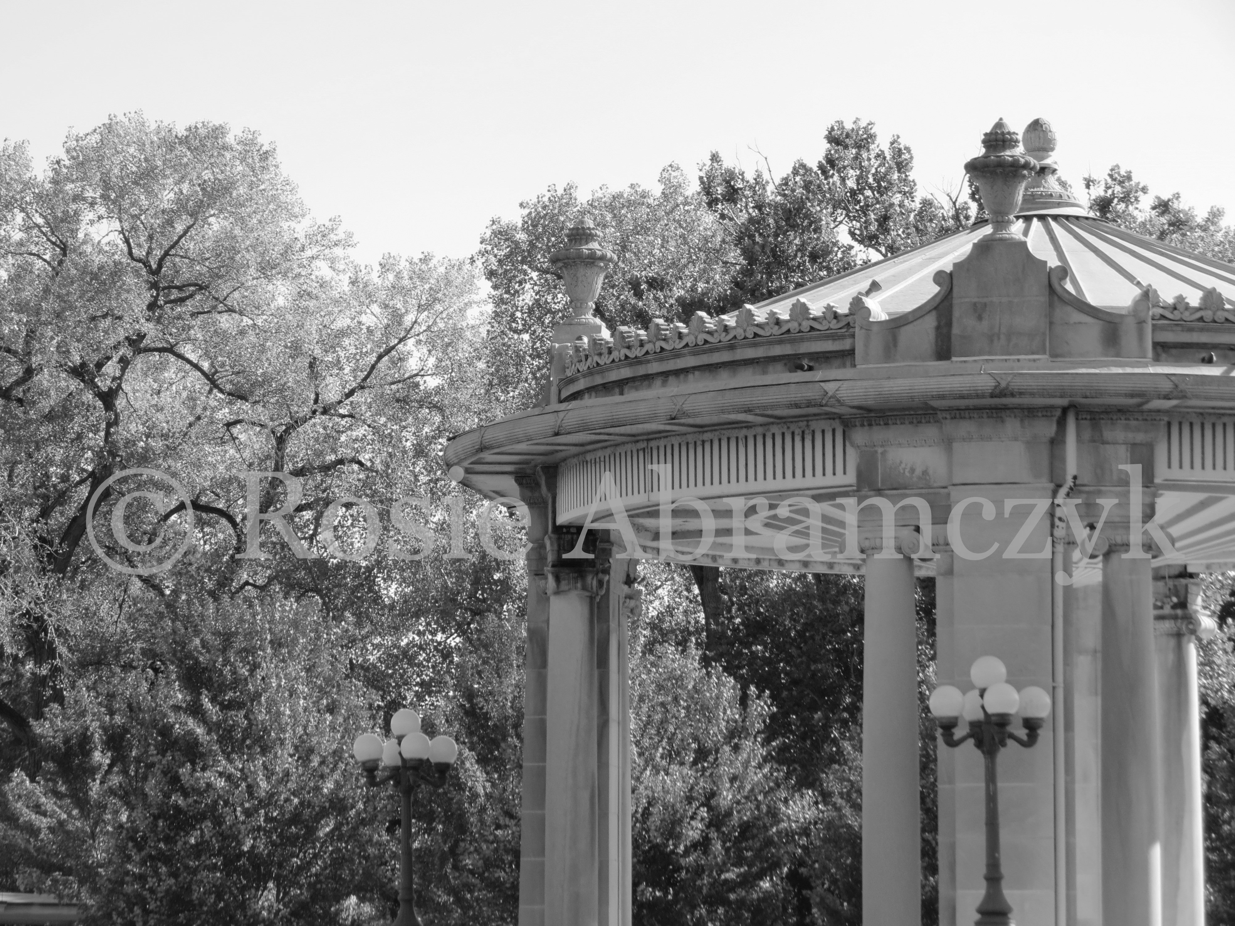 Nathan Frank Bandstand Near the Muny, St. Louis, by Rosie Abramczyk, Photo, 2014