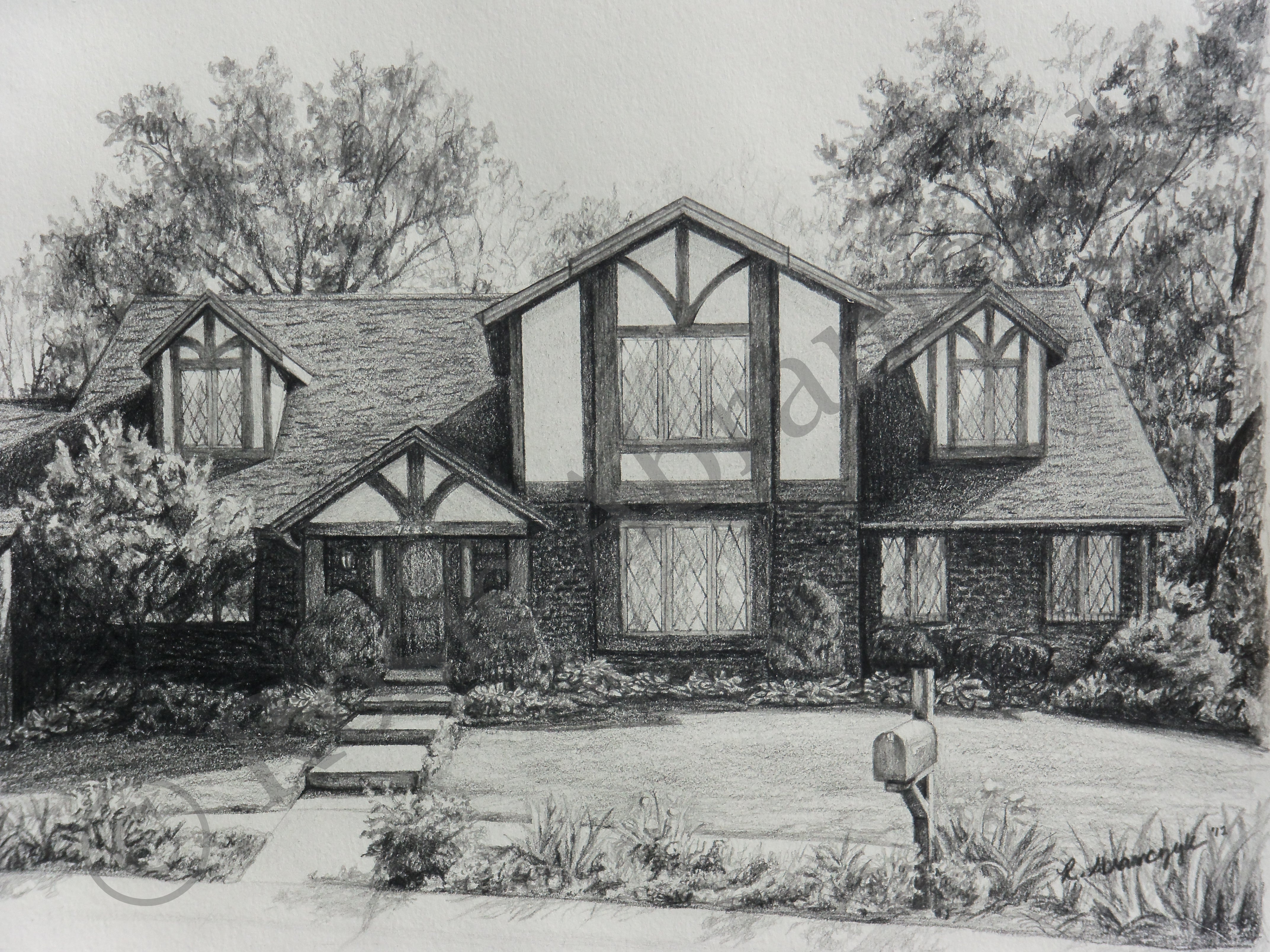 South County Home, by Rosie Abramczyk, Pencil, 2012