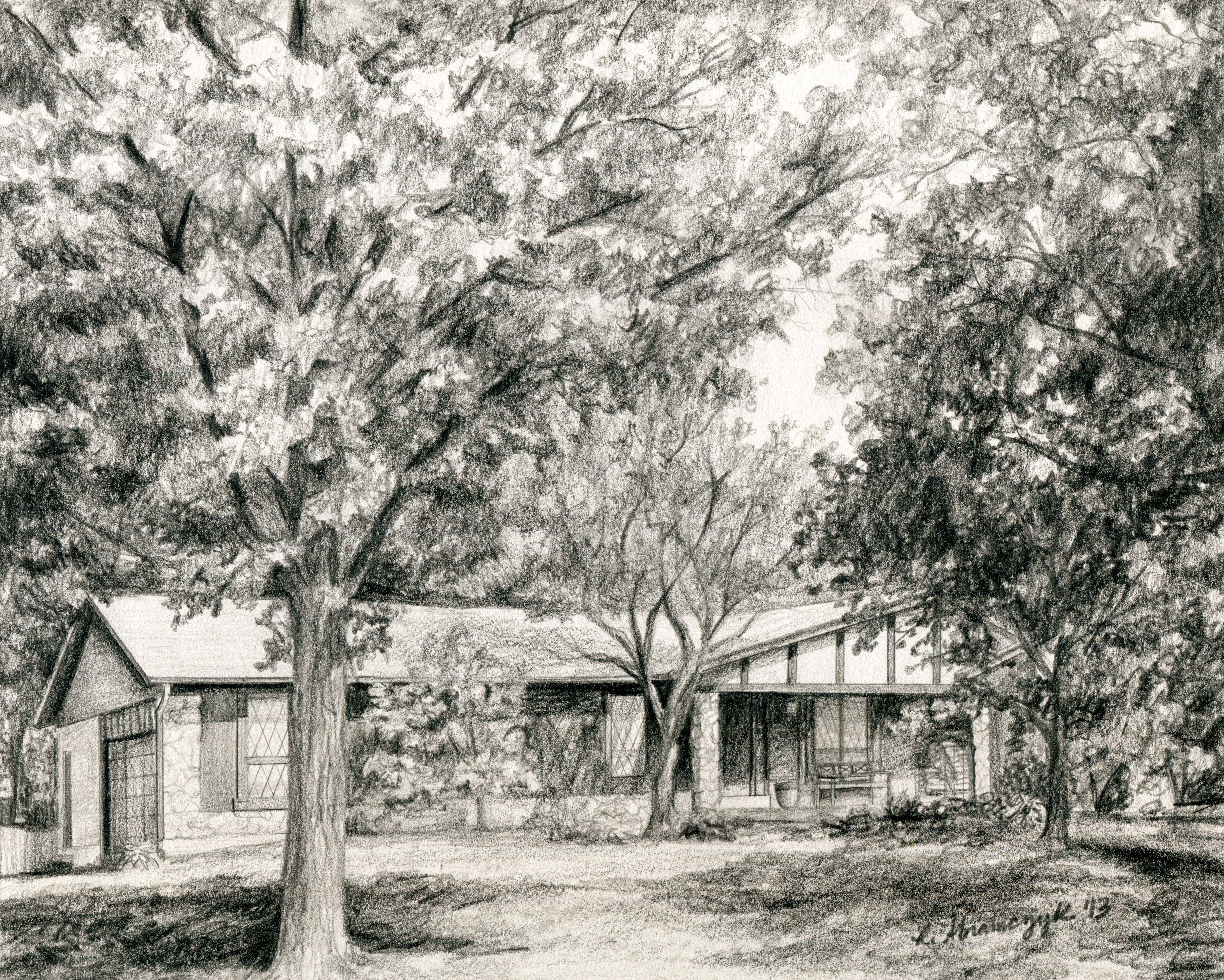 The Bruce Family Home, by Rosie Abramczyk, Pencil, 2013