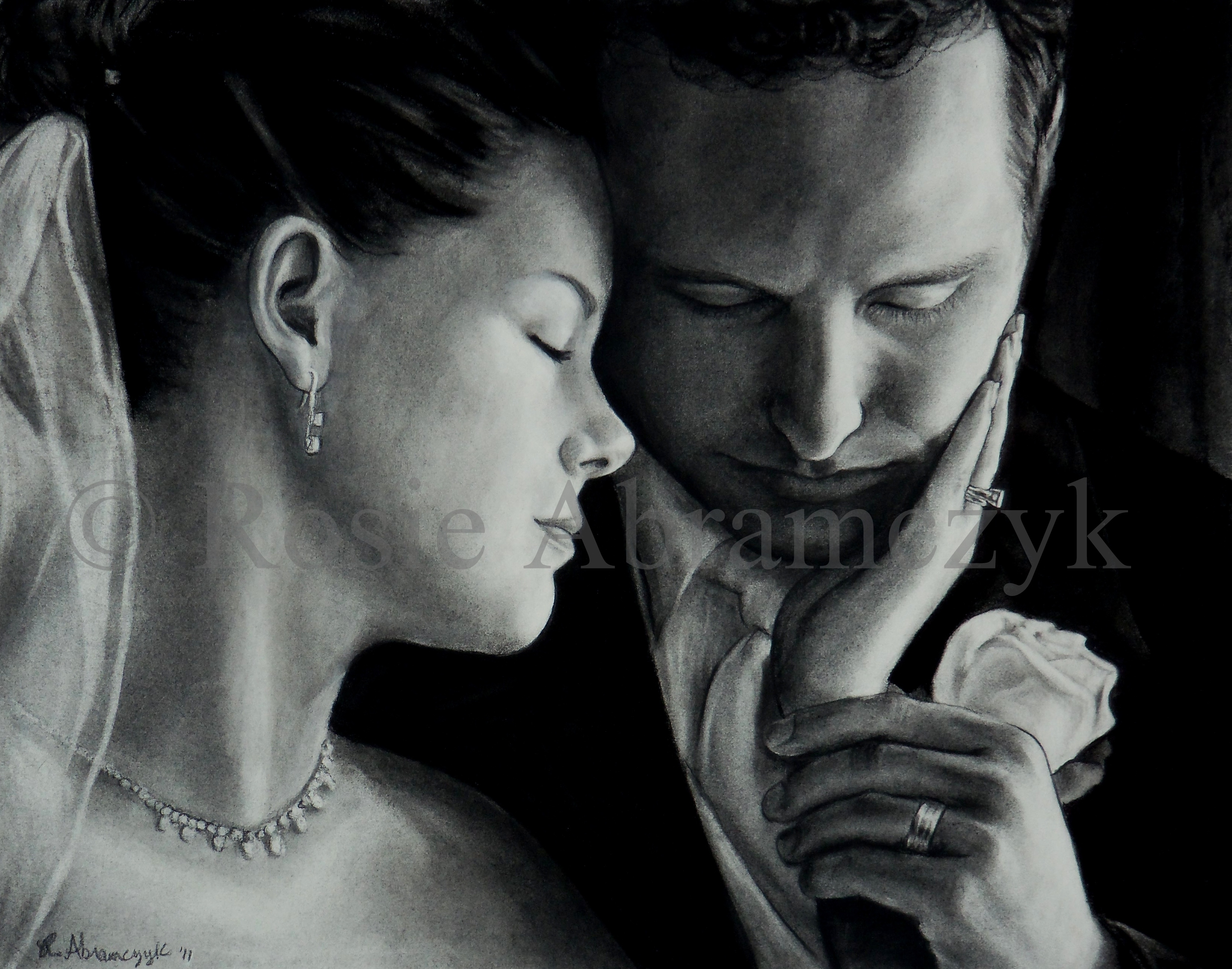 Tricia & Matt, by Rosie Abramczyk, Charcoal, 2011