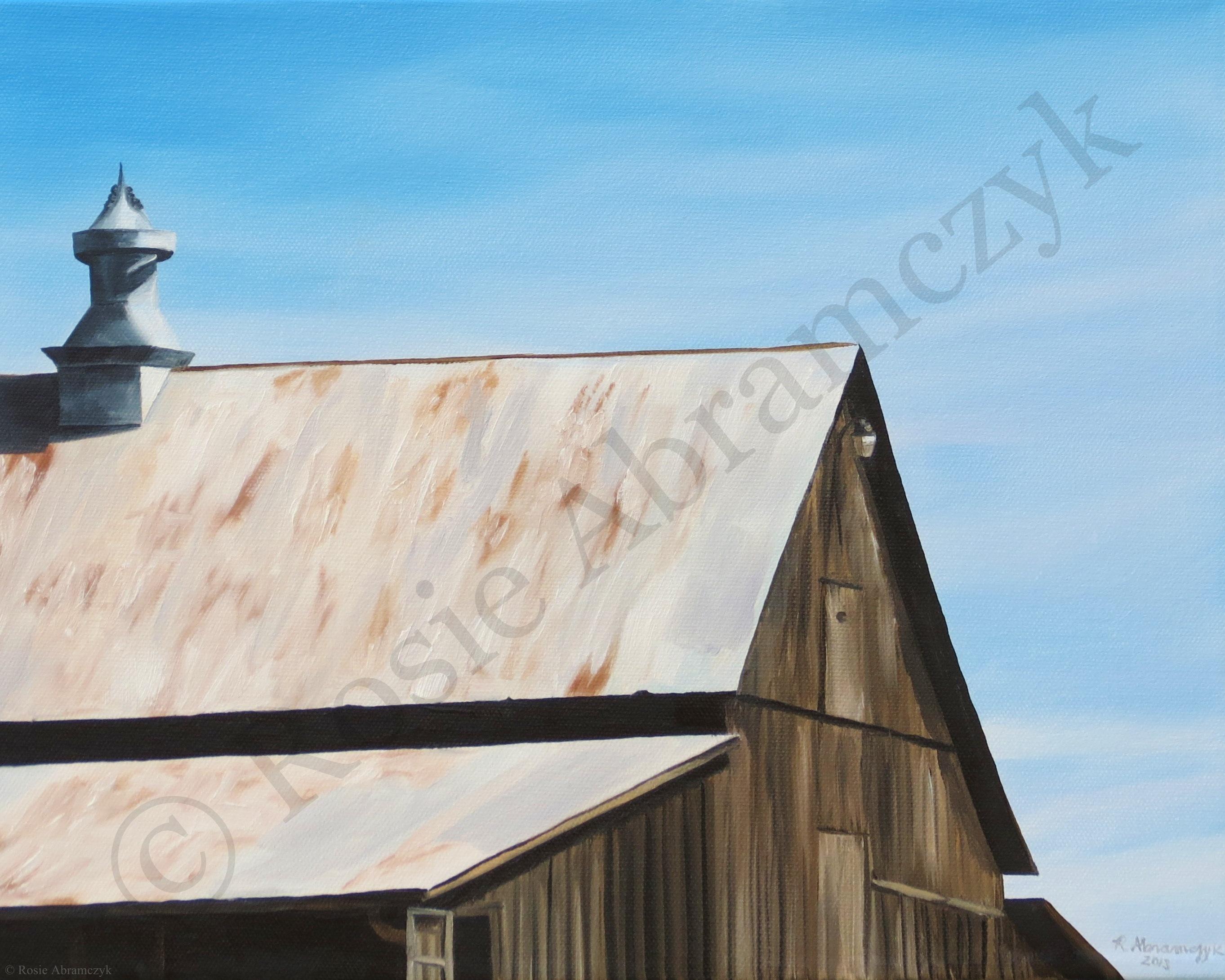 Balducci Barn, by Rosie Abramczyk, Oil Paint, 2013