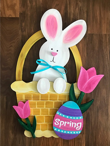Spring Bunny in a Basket