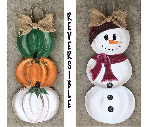 Reversible Snowman Pumpkin