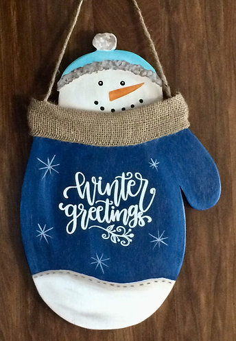 DIY Snowman Mitten