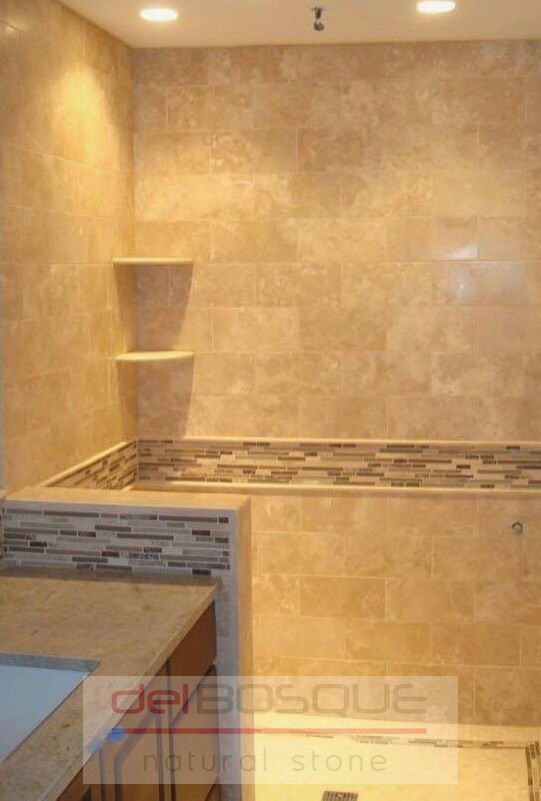 Travertine Shower