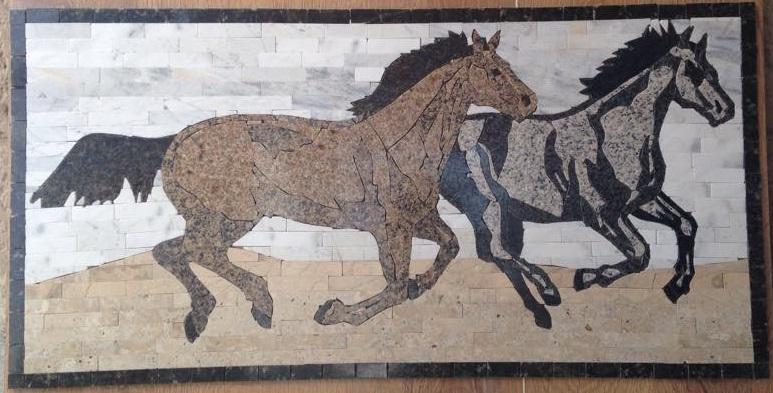 Horses Running Medallion