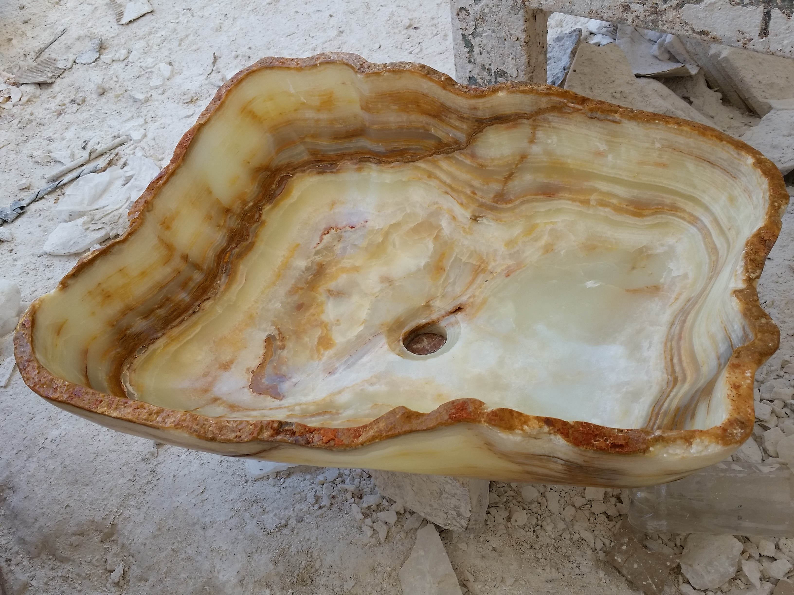 Onyx Stone Sink with irregular Shape