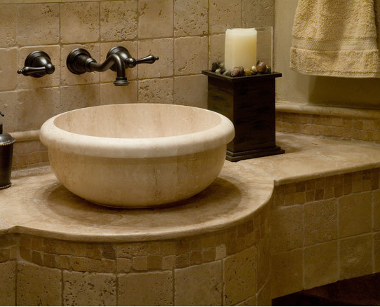 Travertine Bowl Stone Sink