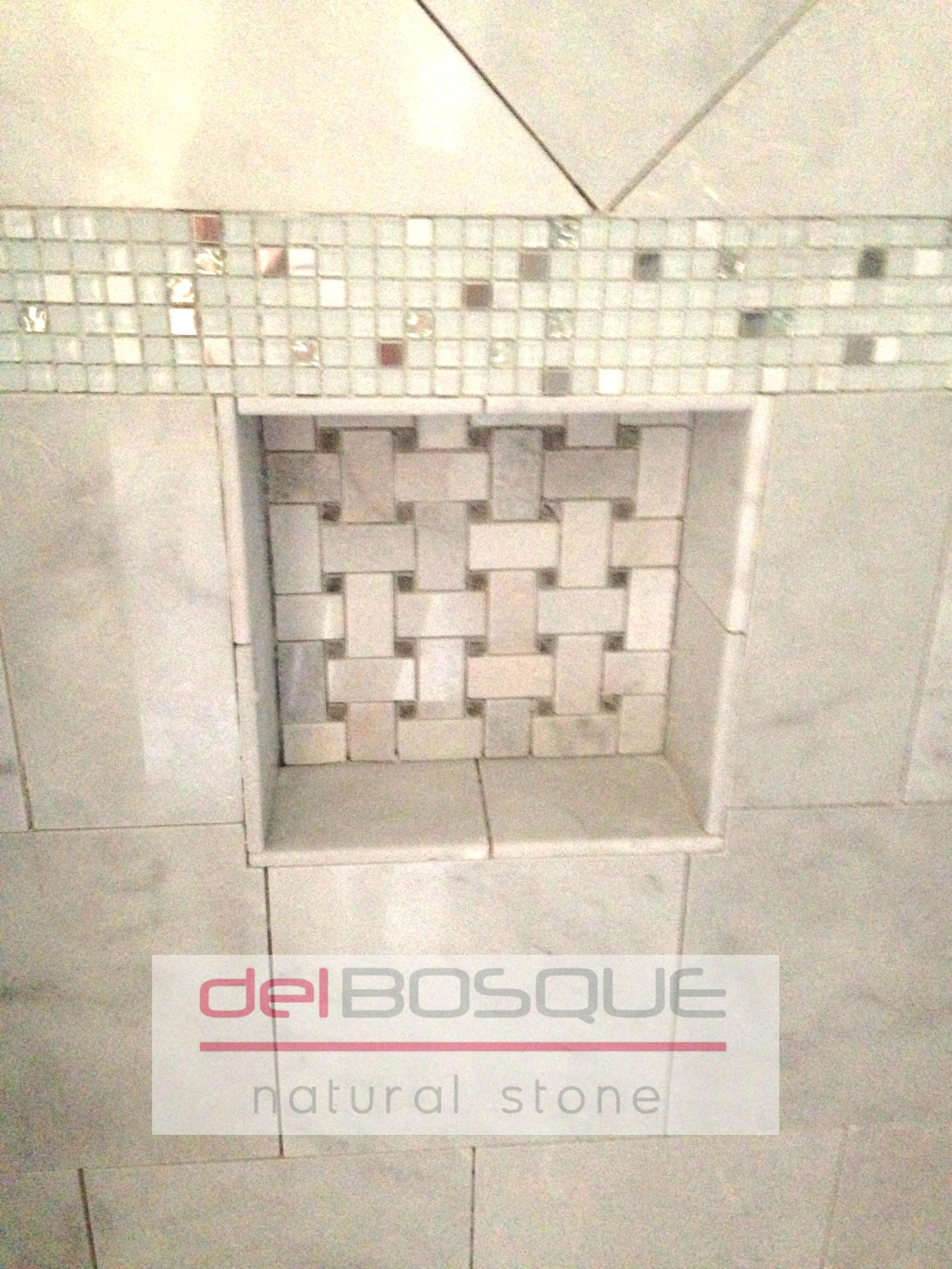 White Marble Shower