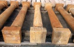 Peach Travertine Columns