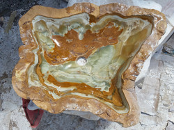 Onyx Stone Sink with irregular Shape