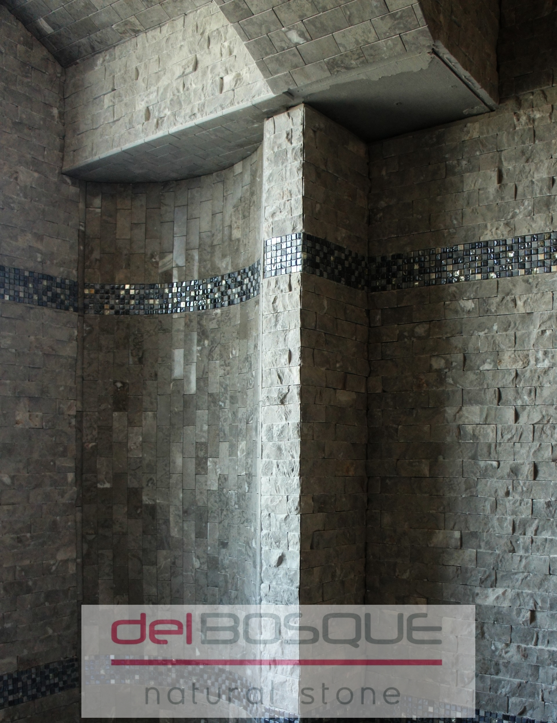 Gray Marble Split-face Mosaic