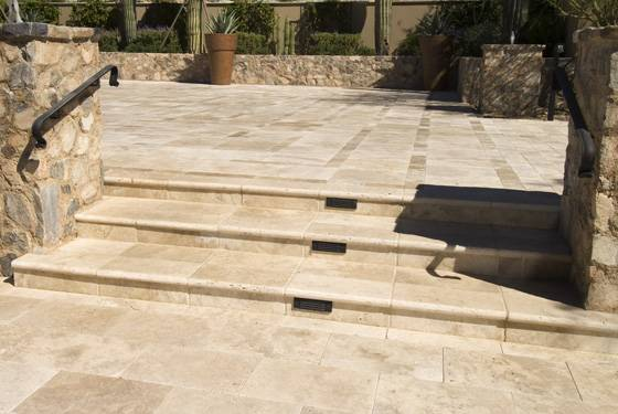 Durango Travertine Stairs