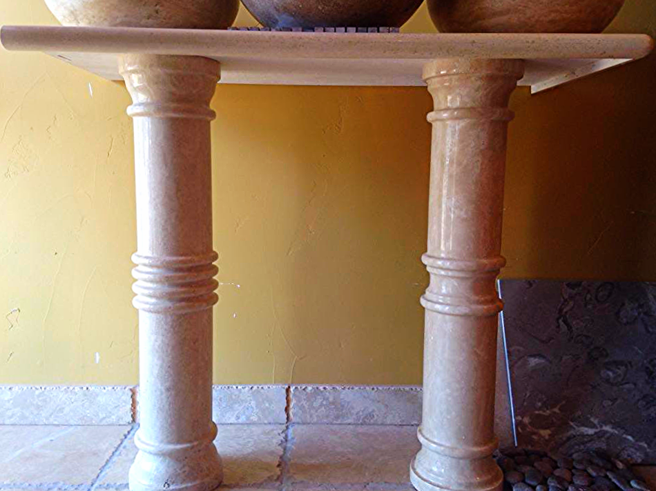 Travertine Stone Columns