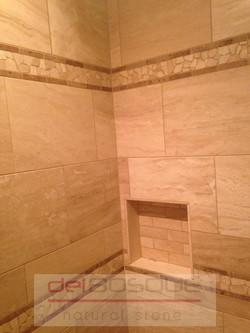 Durango Vein-Cut Travertine Shower