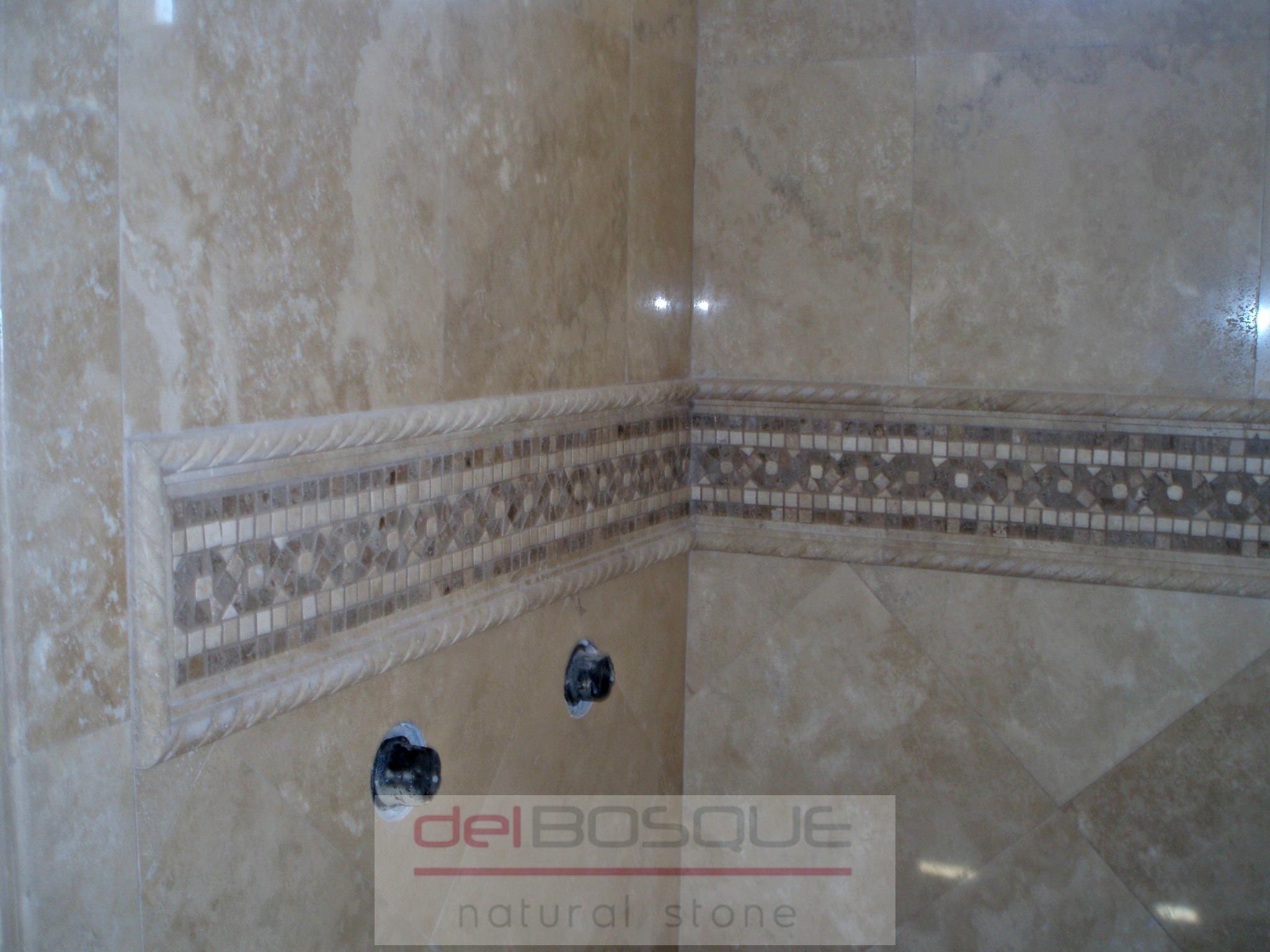 Durango Travertine Polished Shower