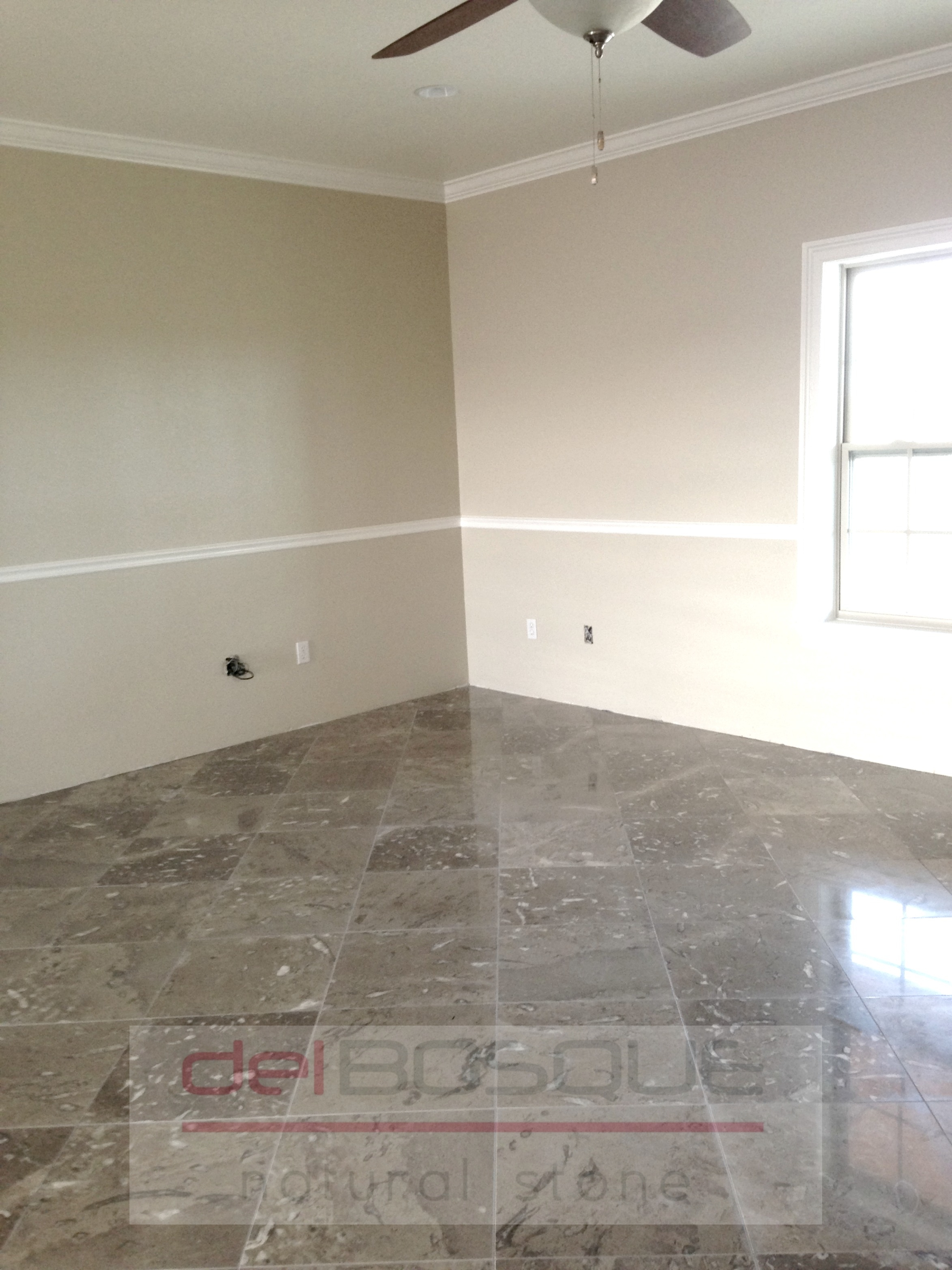 "16""x16"" Gray Marble Floor"