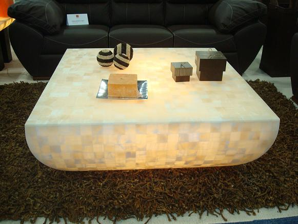 Onyx Table with Light